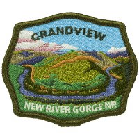 New River Gorge National River Grandview Embroidered Patch