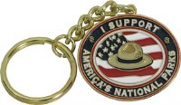 """I Support America's National Parks"" Key Chain"