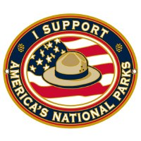 """I Support America's National Parks"" Hiking Stick Medallion"