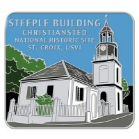 Steeple Building Christiansted NHS Pin