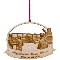 Wooden Wright Brothers Photo Ornament