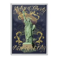 Statue of Liberty Floral Magnet
