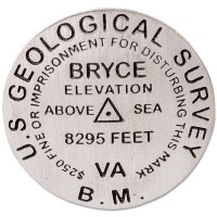 Bryce Point Bench Mark Medallion Pin