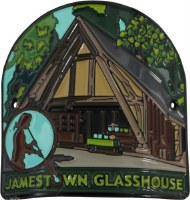 Jamestown Glasshouse Hiking Stick Medallion