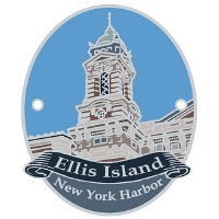 Ellis Island Hiking Stick Medallion