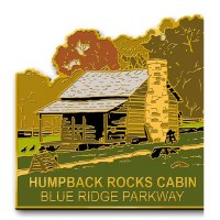 Humpback Rocks Cabin, Blue Ridge Parkway Lapel Pin
