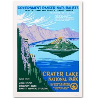 Crater Lake National Park WPA Style Poster