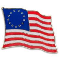 13 Star ''Betsy Ross'' Flag Hat Tac Pin