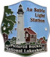 Au Sable Light Station Hiking Stick Medallion
