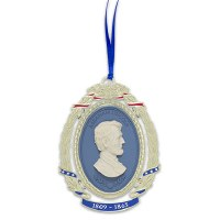 Abraham Lincoln Gold Finish Ornament