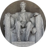 Round Lincoln Memorial Puzzle