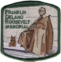 Franklin Delano Roosevelt Memorial Embroidered Patch