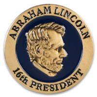Collector's Edition Abraham Lincoln Gold Lapel Pin