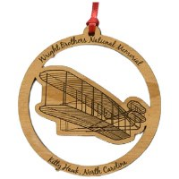 Wooden Wright Brothers Ornament