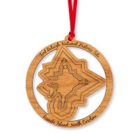 Fort Raleigh Wood Ornament
