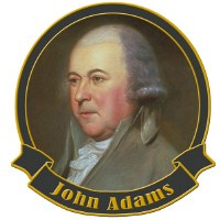 Founding Father John Adams Collectible Lapel Pin
