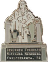 Benjamin Franklin National Memorial Pin