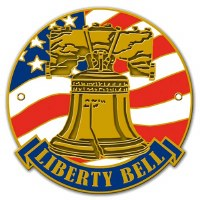 Liberty Bell Hiking Stick Medallion