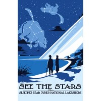 See the Stars from Sleeping Bear Dunes Poster