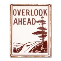 Blue Ridge Parkway Overlook Ahead Sign