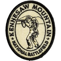 Kennesaw Mountain National Battlefield Embroidered Patch - Civil War Soldier