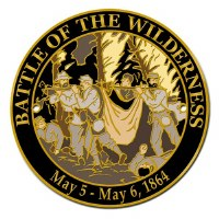 Battle of the Wilderness Hiking Stick Medallion