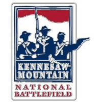 Kennesaw Mountain National Battlefield Hiking Stick Medallion - Red, White and Blue
