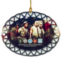 Vietnam Veterans Memorial Ornament