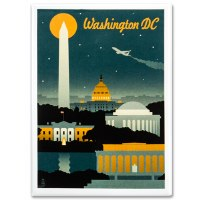 Washington DC Retro Magnet