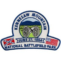 Kennesaw Mountain National Battlefield Park Embroidered Patch - Union and Confederate Flags