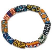 Powder Glass Bead Bracelet