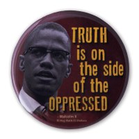 Malcolm X Quote Button