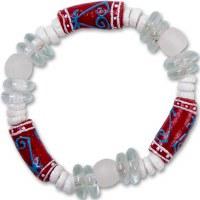Adinkra Sankofa Glass Bead Bracelet