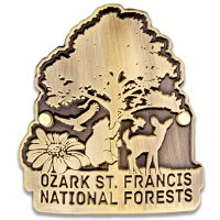 Ozark-St. Francis NF Hiking Stick Medallion