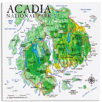 Acadia National Park Map Magnet