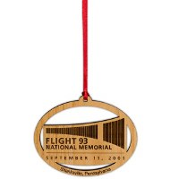 Flight 93 Logo Wood Ornament