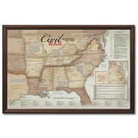 Framed Civil War Battlefields Map