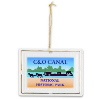 C&O Canal National Historic Park Porcelain Ornament