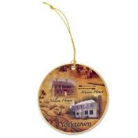 Yorktown Battlefield Fine Porcelain Ornament