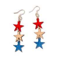 July 4th Star Earrings
