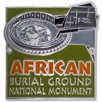 African Burial Ground National Monument Hiking Stick Medallian