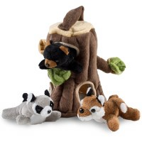 Plush Woodland Playset: Fox, Raccoon, Bear