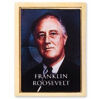 Franklin D. Roosevelt Gold Tone Lapel Pin