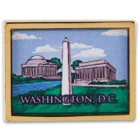 National Mall and Memorial Parks Gold Tone Lapel Pin
