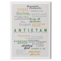 Antietam Battlefield Text Magnet