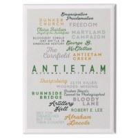Antietam Battlefield Text Magnet