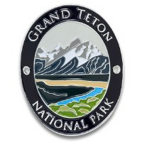Grand Teton National Park Walking Stick Medallion