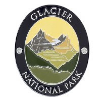 Glacier National Park Walking Stick Medallion