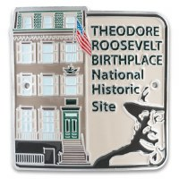 Theodore Roosevelt Birthplace National Historic Site Hiking Stick Medallion