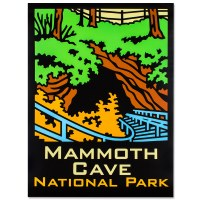Mammoth Cave Retro Poster